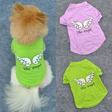 shirt pattern for dog online cheap wholesale cute pet puppy dog clothes angel wing pattern