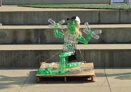 art of recycle recycled materials turn to art in ohio state coca cola competition