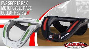 evs motocross helmet evs sports r4k motorcycle race collar review youtube