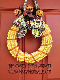 candy wreath diy candy corn wreath decoration madame deals