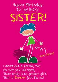 funny sister birthday cards funny sister birthday card gangcraft