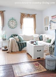 How To Make Slipcover For Sectional Sofa No Sew Drop Cloth Slipcover Town Country Living