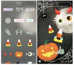 Halloween Stickers Instagram Releases Halloween Themed Face Filters And Stickers