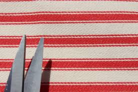 Maroon Upholstery Fabric Vintage Cotton Ticking Stripe Deck Chair 100 Cotton Furniture
