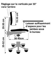 hauteur de bureau de travail réglage des chaises de bureau réponses sst