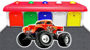 monster truck games videos for kids learn colors u0026 vehicles for kids monster truck u0026 colours