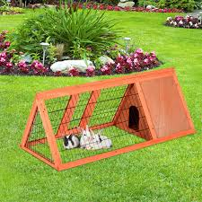 Large Bunny Cage Pawhut Deluxe 47 U201d Pet Rabbit Hutch Bunny Large Cage House Wooden