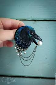 halloween raven background buy brooch