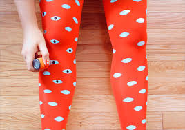 eye pattern tights how tuesday hand painted tights etsy journal