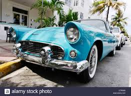 ford thunderbird built in 1957 fifties american classic cars