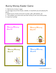 easter games easter egg hunt game ideas bunny money