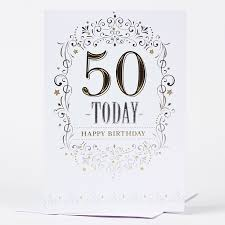 50th birthday card traditional only 59p