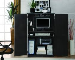 black contemporary armoire desk luxury contemporary armoire Computer Desk With Doors