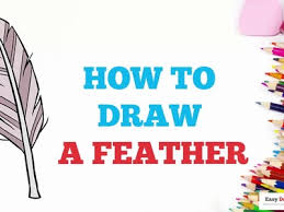 draw how to draw a feather in a few easy steps drawing tutorial