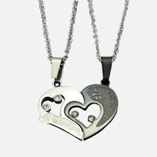 personalized necklaces for couples evermarker heart and clover necklaces titanium steel evermarker