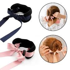 hair bun accessories new design large size sponge hair bun maker with bow ribbon mix