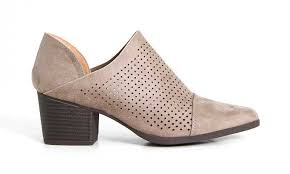 s qupid boots qupid shoes nero perforated ankle booties in taupe nero 13 taupe
