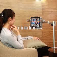 Tablet Desk Mount by Portable Aluminum Clamp Reading Book Display Holder Cradle Desk