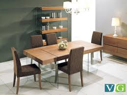 Modern Dining Table Designs With Glass Top Aura Contemporary Walnut Floating Dining Table
