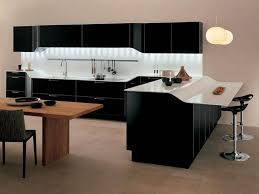 modern galley kitchen design white high gloss countertop ceiling
