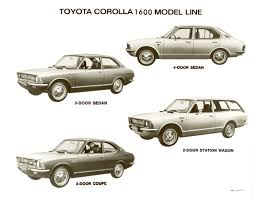 toyota corolla 2 door coupe 1971 1974 toyota corolla second 2nd generation toyota