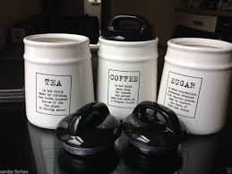 black ceramic kitchen canisters best 25 tea coffee sugar canisters ideas on kitchen