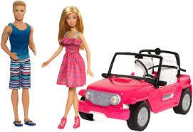 barbie jeep barbie pink beach cruiser with u0026 ken kmart