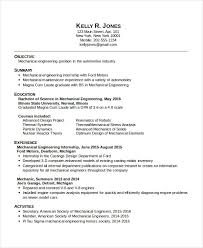 resume templates for internships mechanical engineering resume templates complete representation