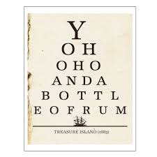 Kitchen Wall Art Decor by Yo Ho Ho Bottle Of Rum Pirate Art Eye Chart Print Kitchen Wall