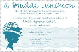 bridesmaid luncheon invitation wording bridal luncheon invitation kawaiitheo