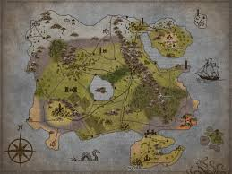 Map Of Faerun My Interpretation Of What The World Map Could Look Like