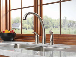 brushed nickel faucet with stainless steel sink faucet finishes faucet finishes sinks faucets product guide