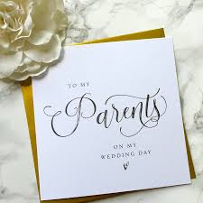 to my on our wedding day card to my parents on our wedding day card by sweet pea sunday