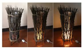Floor Lamp Tree Branches How To Make A Twig Floor Lamp With Pictures Wikihow