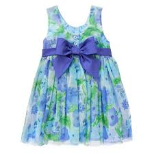 toddler watercolor blue floral dress by gymboree
