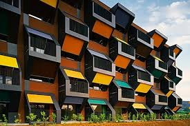 housing complex in slovenia is a series of honeycomb modular