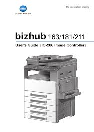 konica minolta bizhub 163 user manual 362 pages also for