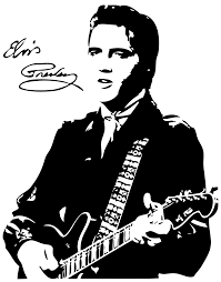 black hair clipart elvis presley pencil and in color black hair