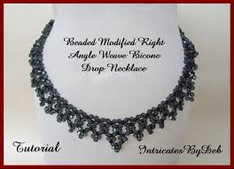 beaded drop necklace images Tutorial beaded modified right angle weave bicone drop etsy jpg