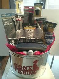 fishing gift basket tin cup personalized golf marker gift and