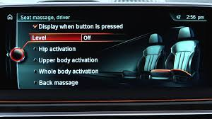 bmw seat massage youtube