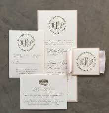 wedding invitation suites sle laurel wedding invitation suite in blush and gold