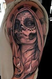sugar skull woman tattoo creativefan