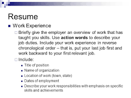 Resume Order Of Work Experience Chautauqua Works Summer Youth Employment Program Ppt Video