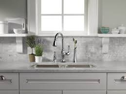 brizo kitchen faucets single handle pull kitchen faucet with smarttouch technology