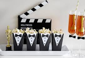 black tie party favors tuxedo popcorn treat box instant foldable printable