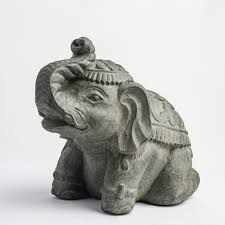 Elephant Statue Elephant Garden Statue My Spirit Garden Volcanic Ash Royal