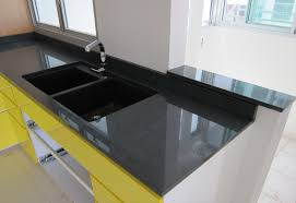 Top Mounted Kitchen Sinks by Black Granite Counter Top Top Mount Or Under Mount Kitchen Sink