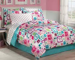 Blue Full Comforter Modern Peace Sign Bedding For Teen Girls Twin Or Full Comforter