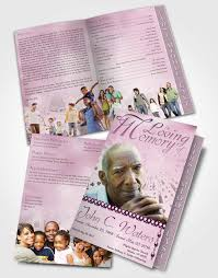 2 page grad fold funeral program template brochure lets play